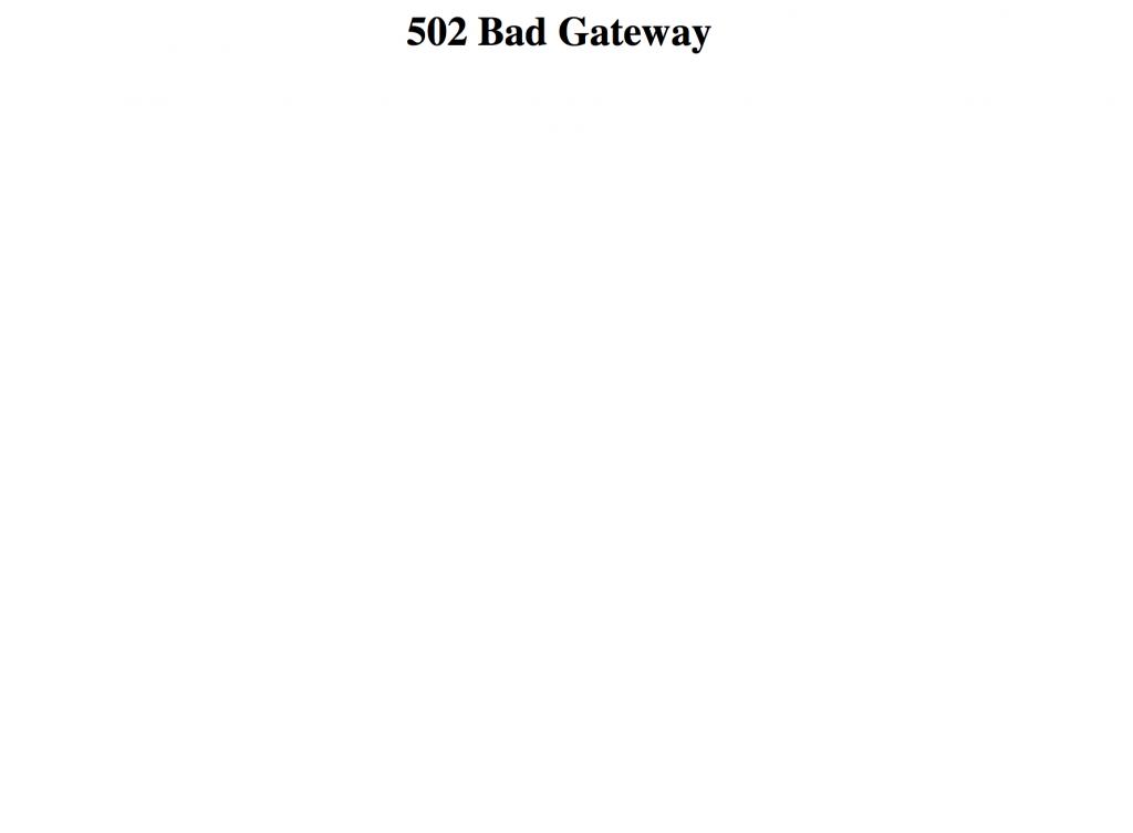 Zaif 502 Bad Gateway エラー